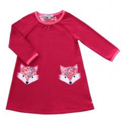 Enfant Terrible - Bio Kinder Sweatkleid mit Fuchstaschen