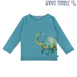 Enfant Terrible - Bio Kinder Langarmshirt mit Dino-Druck
