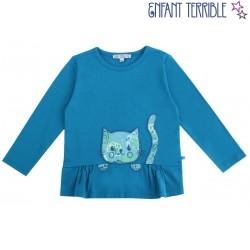 Enfant Terrible - Bio Kinder Tunika mit Katzentasche
