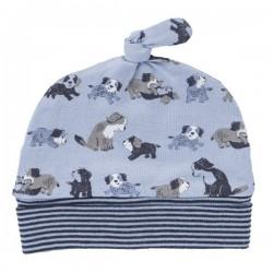 People Wear Organic - Bio Baby Mütze mit Hunde-Allover, 45/47cm