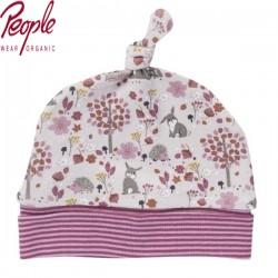 People Wear Organic - Bio Baby Mütze mit Hasen-Allover, 45/47cm