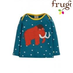 "frugi - Bio Baby Langarmshirt ""Bobby"" mit Mammut-Motiv und Sternen"