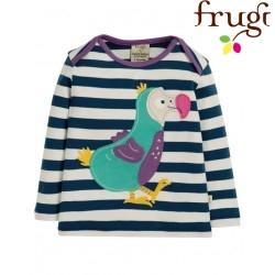 "frugi - Bio Baby Langarmshirt ""Bobby"" mit Dodo-Motiv und Streifen"