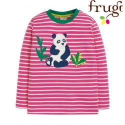"frugi - Bio Kinder Langarmshirt ""Discovery"" mit Panda-Motiv und Streifen"