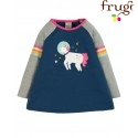 """frugi - Bio Kinder Langarmshirt """"Suzie"""" mit Weltraum-Einhorn-Motiv"""