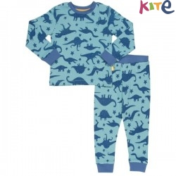 kite kids - Bio Kinder Schlafanzug mit Dino-Motiv