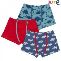 kite kids - Bio Kinder Hipshorts 3er Pack mit Dino/Auto/Uni-Motiv