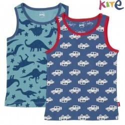 kite kids - Bio Kinder Unterhemden Doppelpack mit Dino/Auto-Motiv