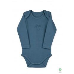 ORGANIC by Feldman - Bio Baby Body langarm mit Schutzengel-Motiv, petrol