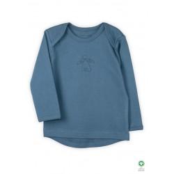 ORGANIC by Feldman - Bio Baby Langarmshirt mit Schutzengel-Motiv, petrol