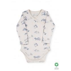 ORGANIC by Feldman - Bio Baby Wickelbody langarm mit heilende Berge-Motiv