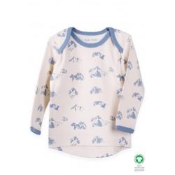 ORGANIC by Feldman - Bio Baby Langarmshirt mit heilende Berge-Motiv