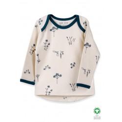 ORGANIC by Feldman - Bio Baby Langarmshirt mit Pflanzen Genuss-Motiv
