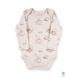 ORGANIC by Feldman - Bio Baby Body langarm mit Lebensfreude Igelkind-Motiv