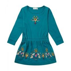 """Sense Organics - Bio Kinder Jersey Kleid """"Dyani"""" mit Stickerei"""