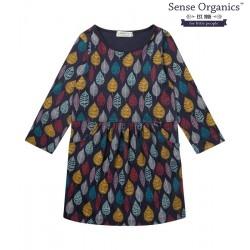 "Sense Organics - Bio Kinder Jersey Kleid ""Sarah"" mit Blätterwald-Motiv"