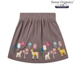 "Sense Organics - Bio Kinder Jersey Rock ""Malia"" mit Waldtieren-Motiv"