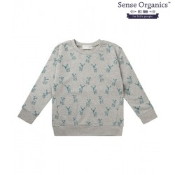 "Sense Organics - Bio Kinder Sweatshirt ""Finn"" mit Hirsch-Motiv"
