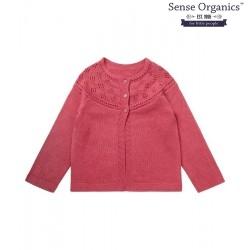 """Sense Organics - Bio Kinder Strickjacke """"Hurit"""" mit Ajour-Muster, pink"""