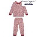 """Sense Organics - Bio Kinder Schlafanzug """"Long John Retro"""" mit Reh-Motiv"""