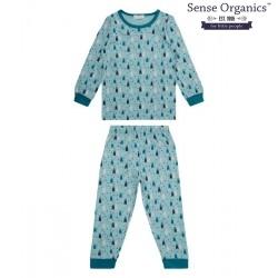 "Sense Organics - Bio Kinder Schlafanzug ""Long John Retro"" mit Bären-Motiv"