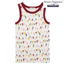 "Sense Organics - Bio Kinder Unterhemd ""Dana Retro"" mit Reh-Motiv"