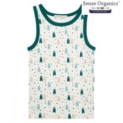 """Sense Organics - Bio Kinder Unterhemd """"Don Retro"""" mit Bären-Motiv"""