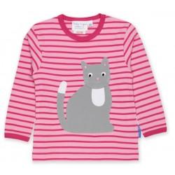 Toby tiger - Bio Baby Langarmshirt mit Katzen-Motiv und Streifen