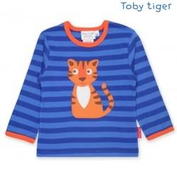 Toby tiger - Bio Baby Langarmshirt mit Happy Tiger-Motiv und Streifen