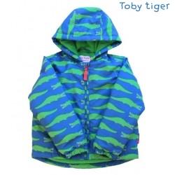 Toby tiger - Kinder Winterjacke mit Krokodil-Motiv, wattiert