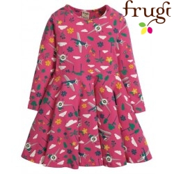 "frugi - Bio Kinder Jersey Kleid ""Sofia"" mit Flugzeug-Motiv"