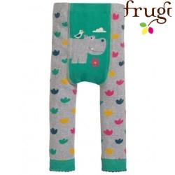 frugi - Baby Leggings mit Blumen und Nilpferd-Motiv