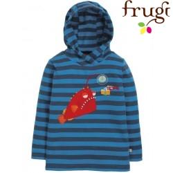 """frugi - Bio Kinder Sweatshirt """"Campfire"""" mit Kapuze und Fisch-Motiv"""