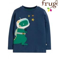 """frugi - Bio Kinder Langarmshirt """"Joe"""" mit Dino-Motiv"""