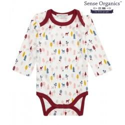 "Sense Organics - Bio Baby Body langarm ""Yvon Retro"" mit Reh-Motiv"