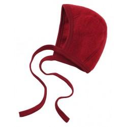 ENGEL - Bio Baby Fleece Mütze, Wolle, rot melange