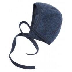 ENGEL - Bio Baby Fleece Mütze, Wolle, blau