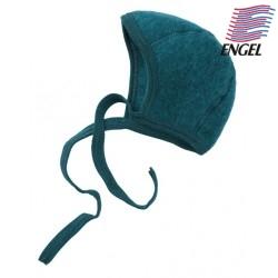 ENGEL - Bio Baby Fleece Mütze, Wolle, petrol