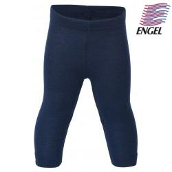 ENGEL - Bio Baby Leggings, Wolle/Seide, marine