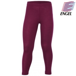 ENGEL - Bio Kinder Leggings, Wolle/Seide, orchidee
