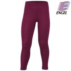 ENGEL - Bio Kinder Leggings, Wolle/Seide, orchidee