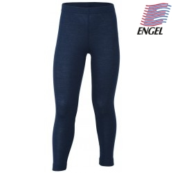 ENGEL - Bio Kinder Leggings, Wolle/Seide, marine