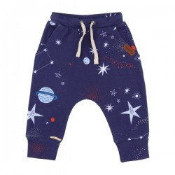 "Walkiddy - Bio Kinder Sweathose mit ""Starry Space""-Motiv"