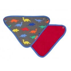 Toby tiger - Bio Baby Tuch mit Dino-Allover und Fleece-Rückseite