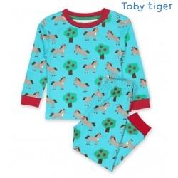 Toby tiger - Bio Kinder Schlafanzug mit Pferde-Motiv