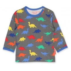 Toby tiger - Bio Baby Langarmshirt mit Dino-Motiv
