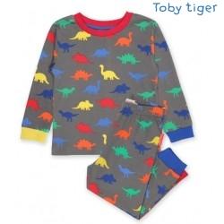 Toby tiger - Bio Kinder Schlafanzug mit Dino-Motiv