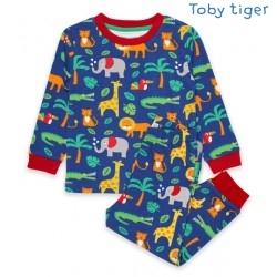 Toby tiger - Bio Kinder Schlafanzug mit Dschungel-Motiv