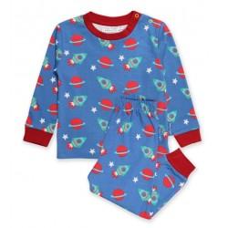 Toby tiger - Bio Kinder Schlafanzug mit Weltraum-Motiv