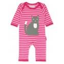 Toby tiger - Bio Baby Strampler mit Katzen-Motiv und Streifen